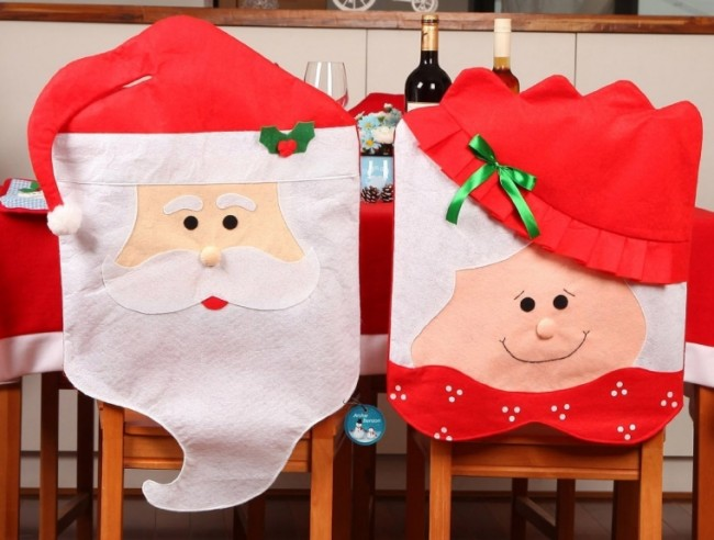 Red Hat Christmas Kitchen Chair Seat Covers