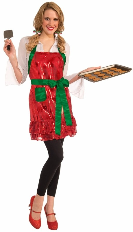 Sequin Christmas Kitchen Apron