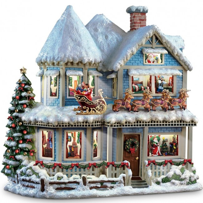 'Twas The Night Before Christmas Collectible Story House