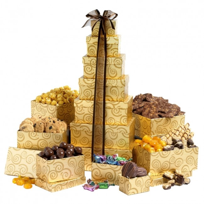 Broadway Basketeers Chocolate Festive Gift Tower