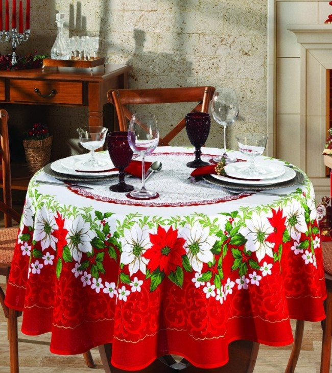 Christmas 63 inches round tablecloth