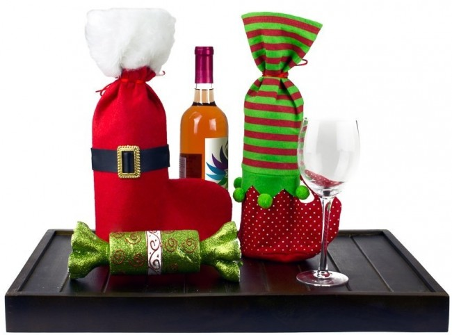 Christmas Wine Gift Bags Set