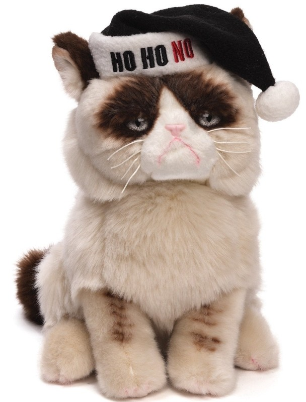 Grumpy Cat Plush Christmas Stuffed Animal
