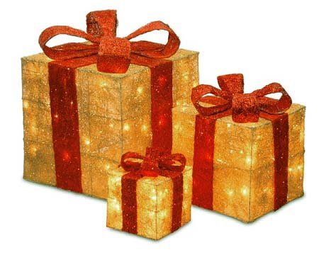 Boxes lighted christmas yard art decorations christmas for Sisal decoration