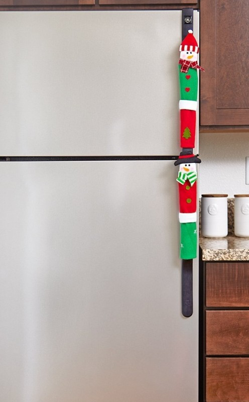 Snowman Kitchen Appliance Handle Covers