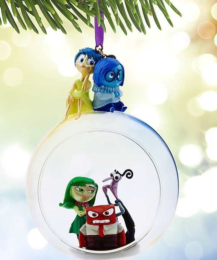 Store Pixar Inside Out Glass Globe Sketchbook Ornament