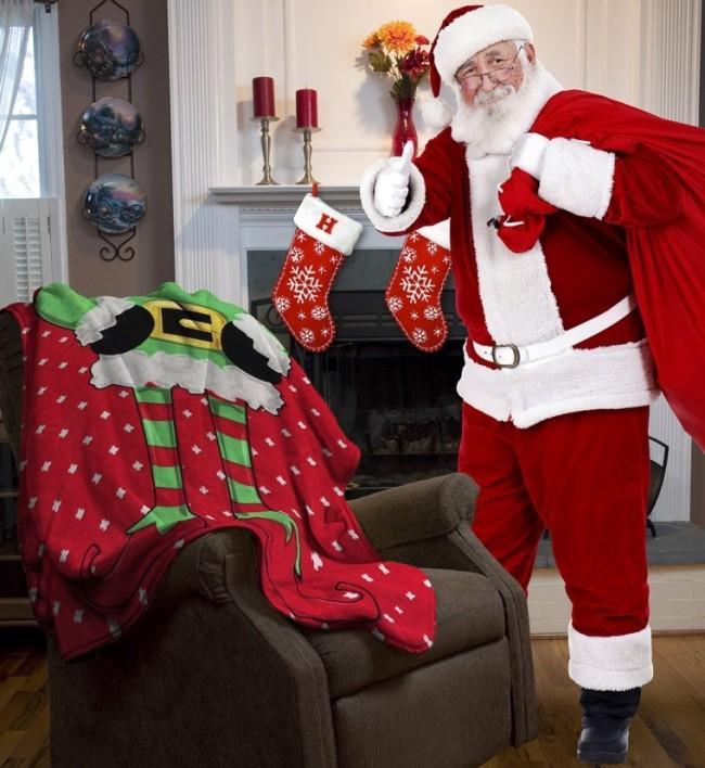 Ugly Christmas NL5027 Elf Micro Plush Throw