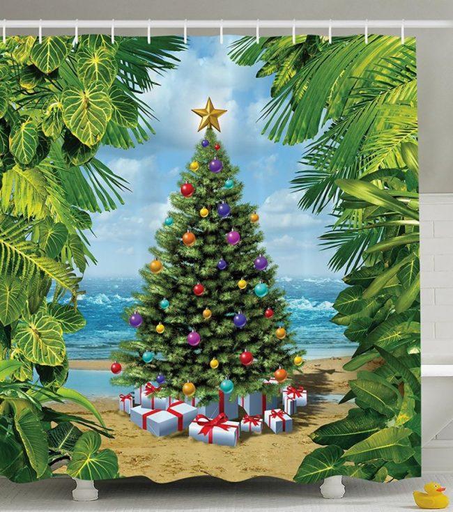 christmas-concept-on-tropic-sandy-beach