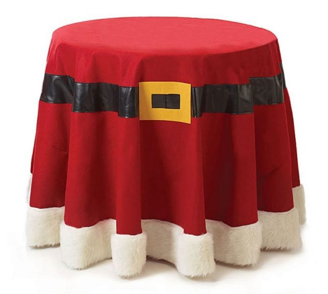 christmas-santa-belt-red-felt-fabric-tablecloth-96-round