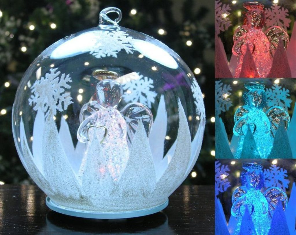 Led Glass Globe Christmas Tree Ornament Christmas