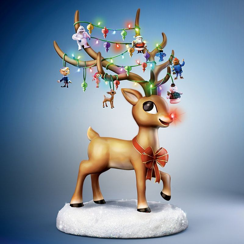 Rudolph the Red Nosed Reindeer Illuminated Musical Figurine