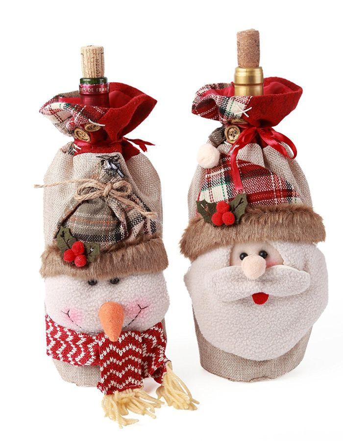 Santa Claus Christmas Candy Bag Treat Pocket Home Gift Decor