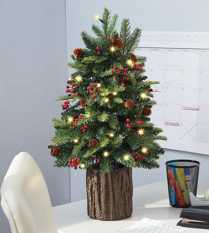 The Tabletop Prelit Christmas Tree.