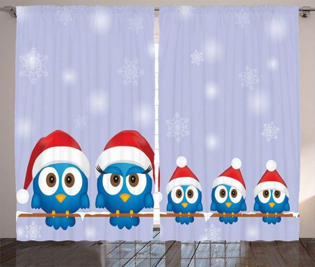 funny-bird-family-with-santa-hats