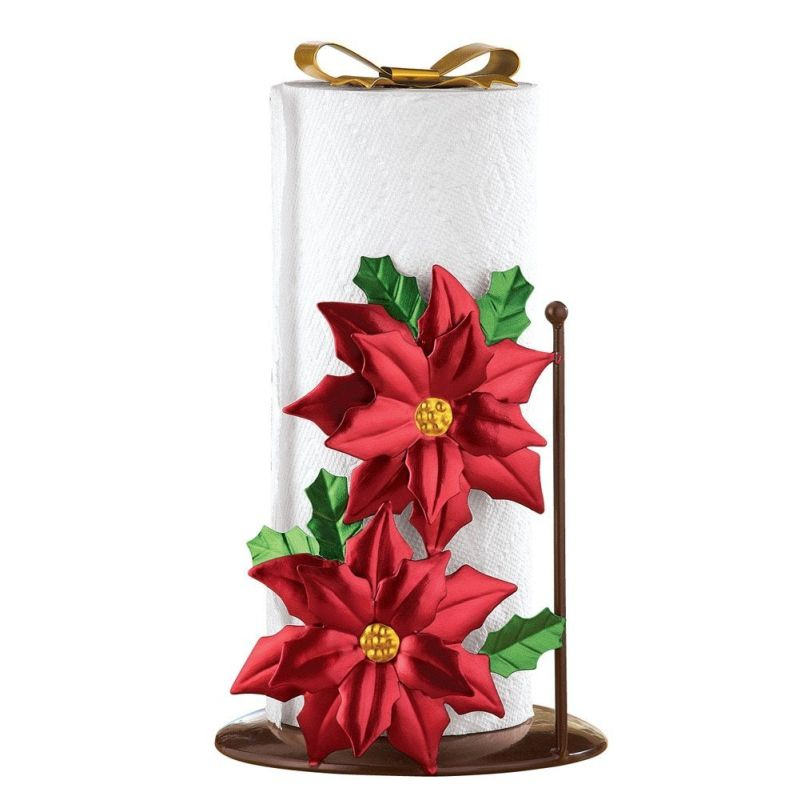 Holiday Poinsettia Paper Towel Holder