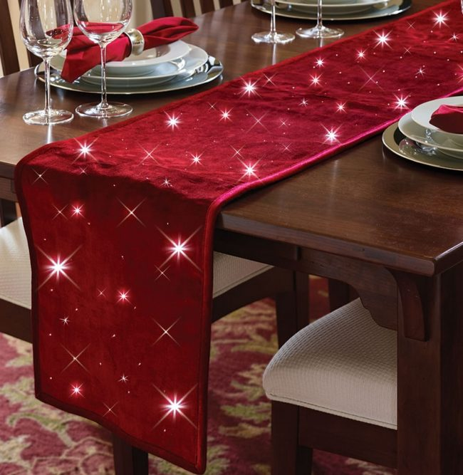 The Cordless Twinkling Table Runner Christmas