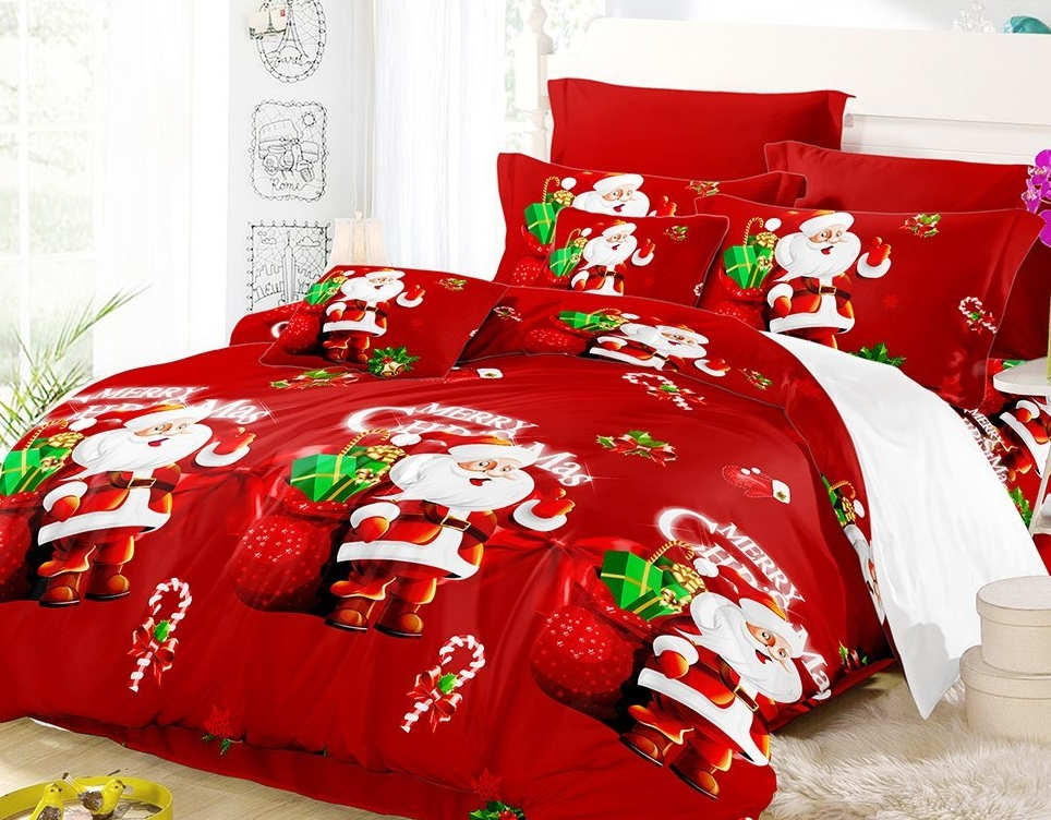 3D Printed Christmas Bedding Sets Duvet Cover + 2pcs Pillowcases + Bed Sheet