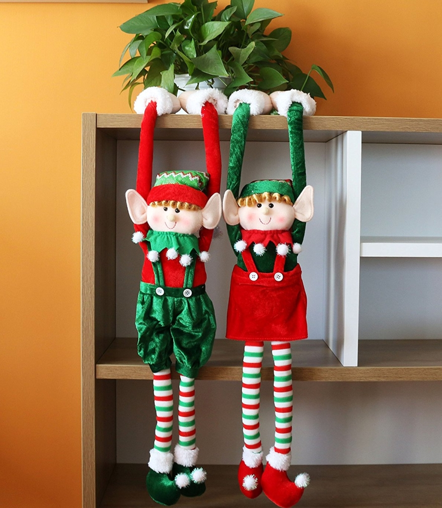 Adorable Flexible Christmas Elves Dolls Home Decoration