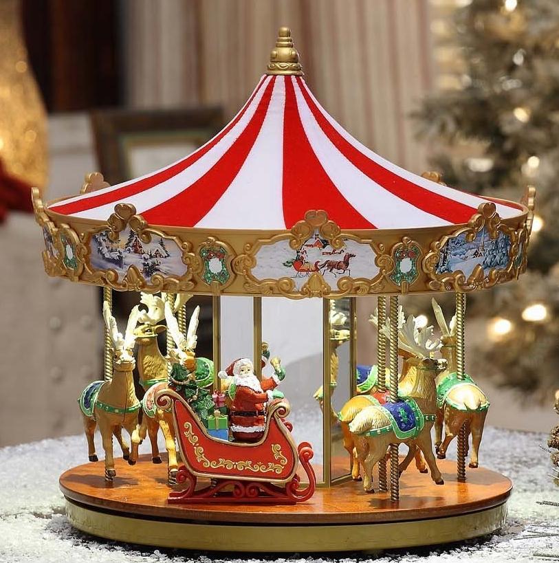 Mr. Christmas 12″ Very Merry Carousel