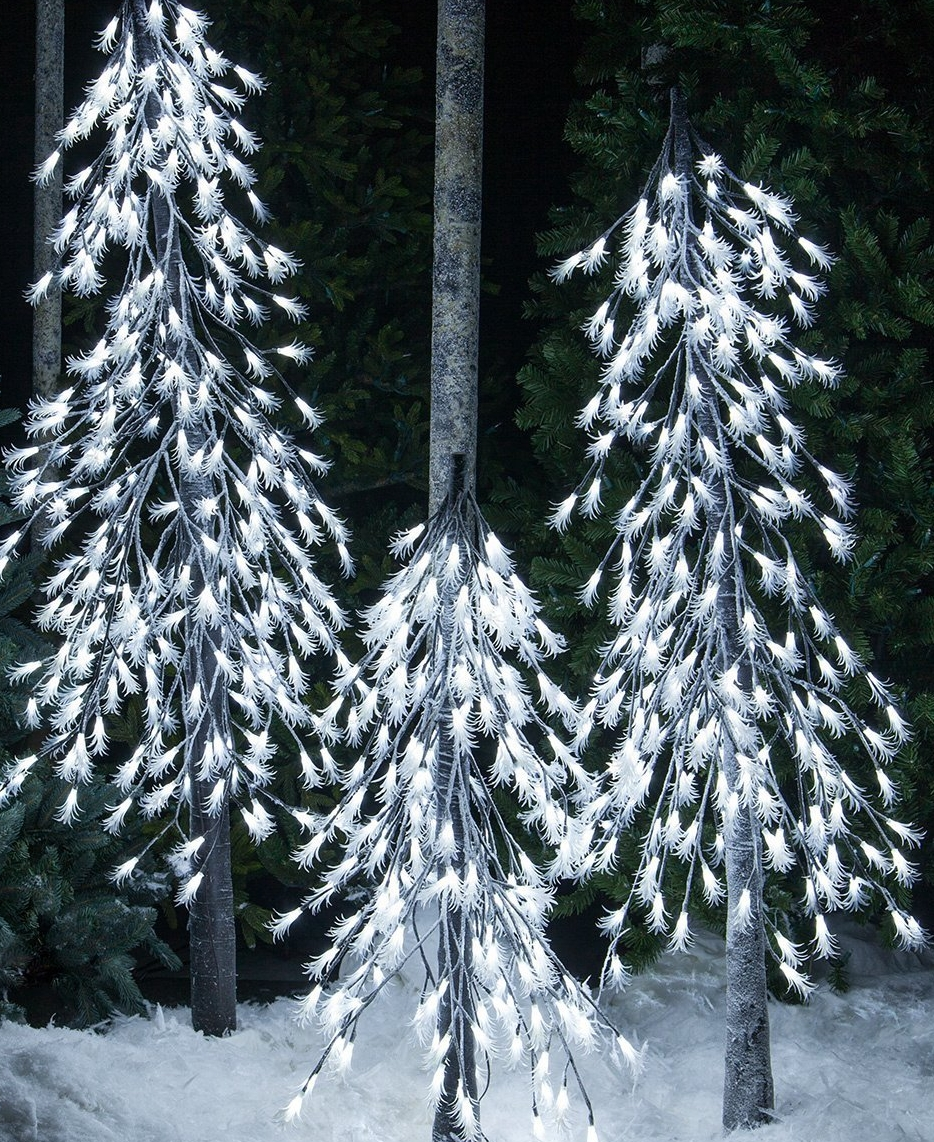Cool White LED Frosted Tree – Alpine Tree – Lighted Tree Decor
