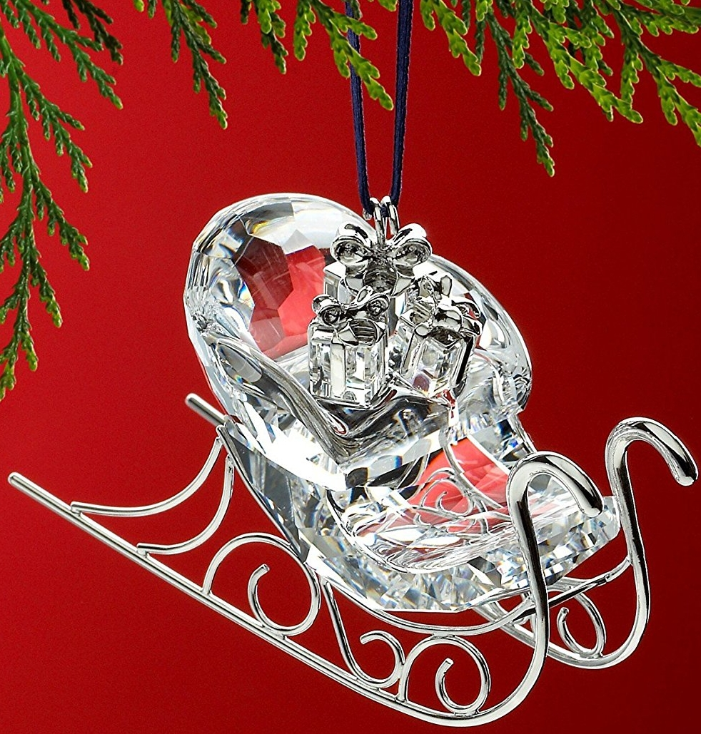 Swarovski Sleigh Rhodium Ornament
