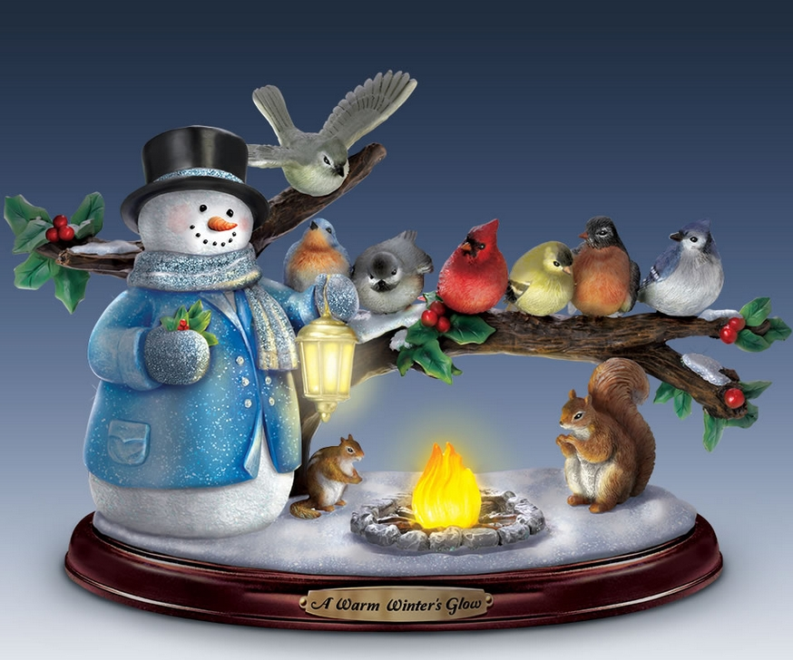 The Thomas Kinkade Winter Glow Snowman