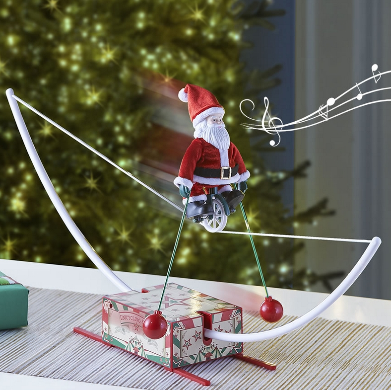 The Musical High Wire Cycling Santa