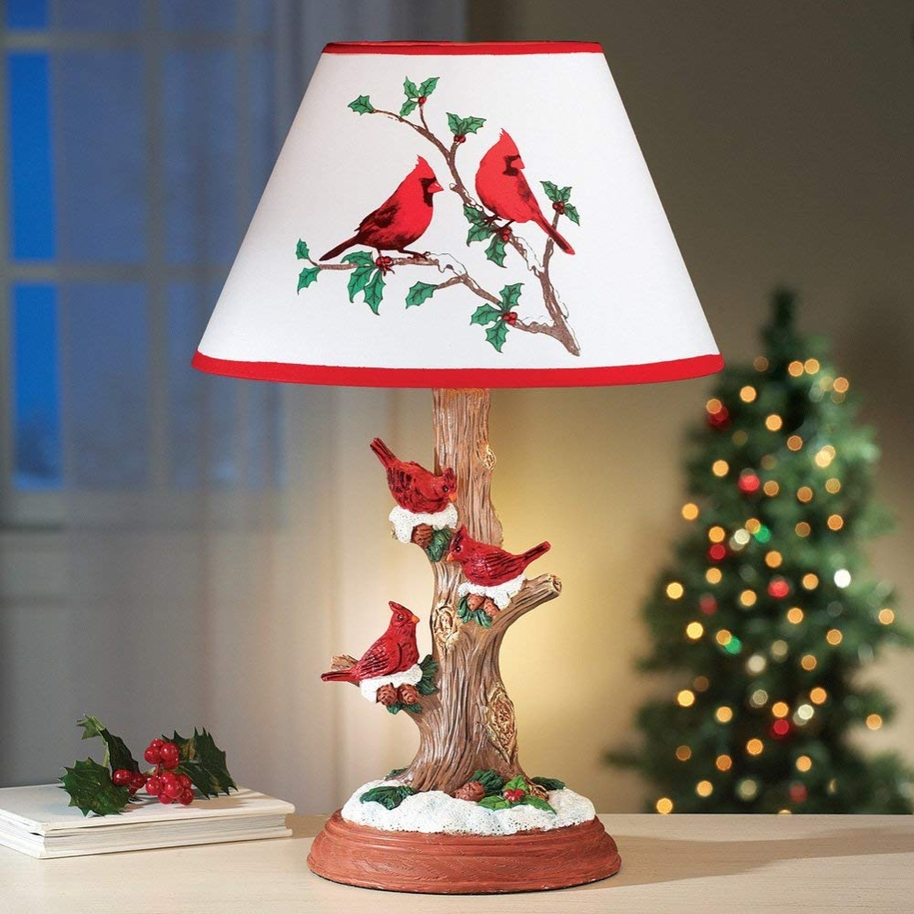 Cardinal Table Lamp Christmas Decoration
