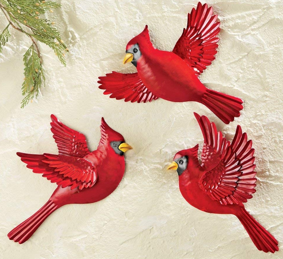 Christmas Cardinal Wall Decor