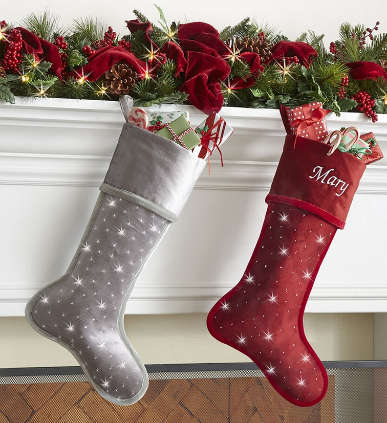 The Personalized Cordless Twinkling Stocking