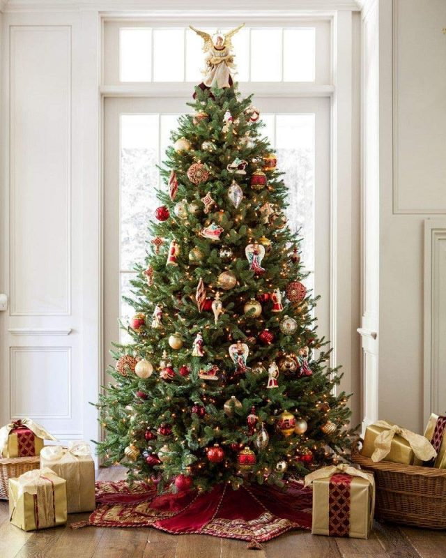 Where To Buy A Nice Artificial Christmas Tree: Balsam Fir Premium Prelit Artificial Christmas Tree
