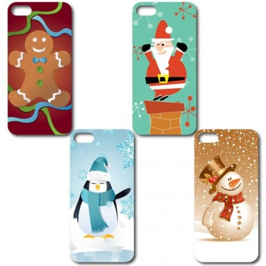 Set of 4 Christmas Themed iPhone 5