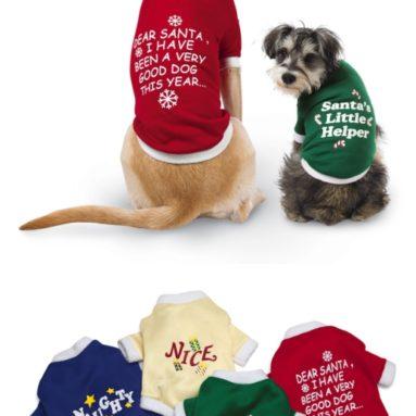 Holiday Dog Pet Shirts
