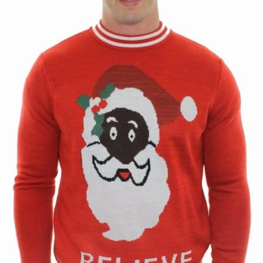 Black Santa Sweater