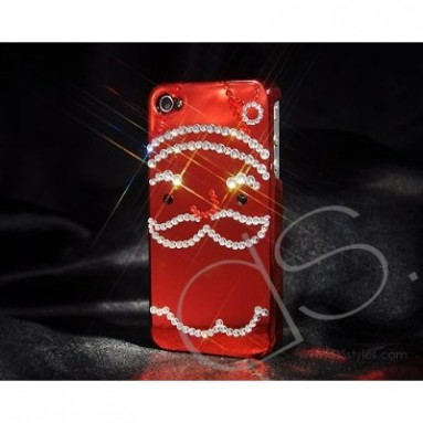 Santa Bling Swarovski Crystal iPhone 4 and 4S Cases