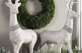 29 Inch High Glitter Christmas Deer