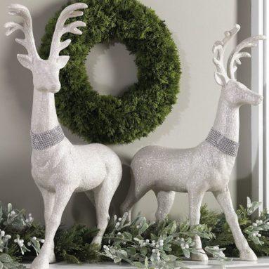 29 Inch High Glitter Christmas Deer