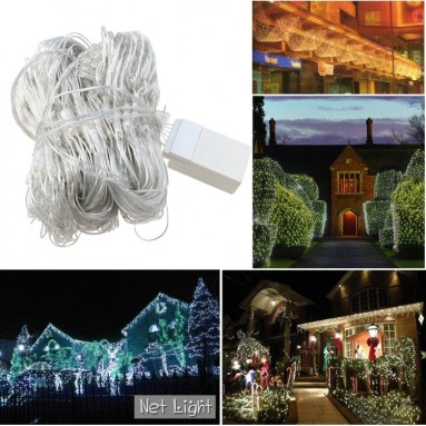 300 LED Warm White Net Mesh Outdoor Fairy String Lights