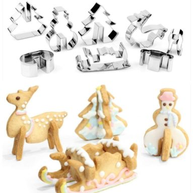 3D Christmas Cookie Cutters Set
