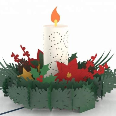 3D Christmas Pop Up Card and Envelope