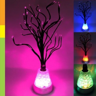Color Changing LED Tree Blossom Mood Light Desk Floor Lamp