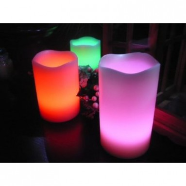 Color Selectable LED Candles with Remote