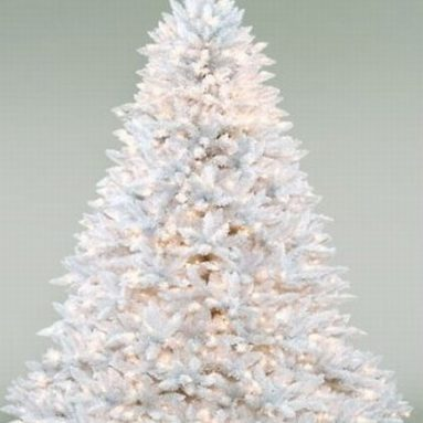6.5′ White Ashley Pre Lit Artificial Christmas Tree Clear Lights