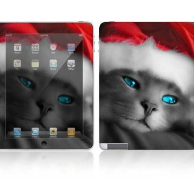 Kitty Cat Design Skin Decal Sticker for Apple iPad 2 Tablet E-Reader