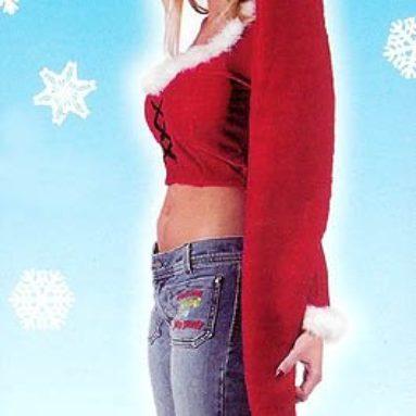 60″ Extra Long Plush Red & White Adult Christmas Santa Hat