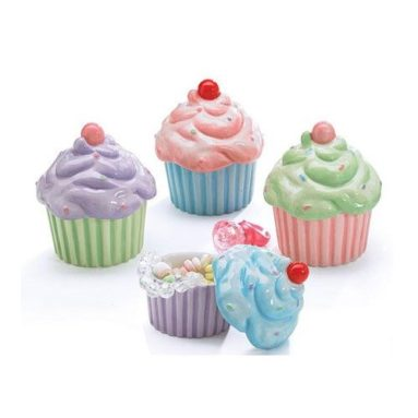 4 Mini Cupcake Cups Candy Dishes