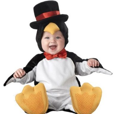 Lil Characters Unisex-baby Newborn Penguin Costume