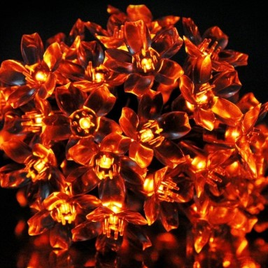 50 LED Solar Blossom Decorative Fairy Lights
