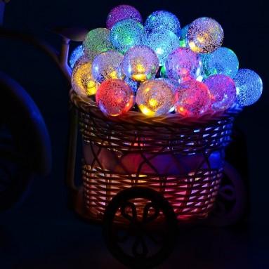 50 LED Solar Powered Globe String Lights