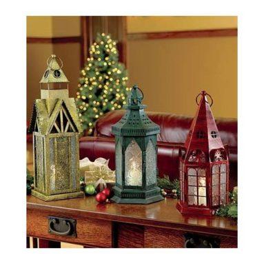 Gold Rustic Holiday Lantern